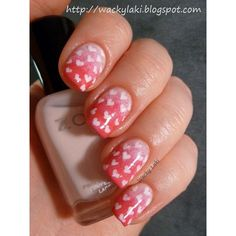 Valentine nails ❤ liked on Polyvore