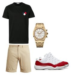 """Untitled #347"" by aintdatjulian on Polyvore featuring Moncler, Faherty, Audemars Piguet, men's fashion and menswear"