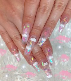 Installation of acrylic or gel nails - My Nails Square Acrylic Nails, Summer Acrylic Nails, Best Acrylic Nails, Acrylic Nail Designs, Dope Nail Designs, Summer Nails, Nail Swag, Encapsulated Nails, Aycrlic Nails