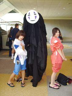 Haku, Chihiro, and nohface.