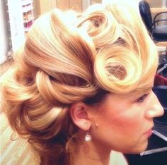 This old Hollywood style up do makes anyone look fabulous and feel glamorous. Hair stylist: @Whitney Clark Clark Collier, model: @Keely Gault Gault James  #couture #bouffante #kittenbomb