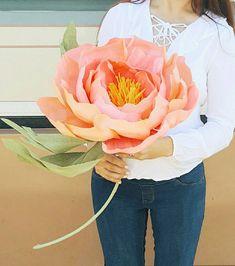 Giant paper flower. Huge paper peony photo prop. Alice in