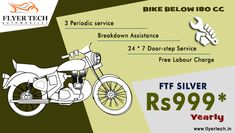 Ready for your bike service? Here's our most affordable package with maximum returns!! Book your package here:  https://goo.gl/yuq9tp #Bikeservice #Doorstepservice #Flyertech
