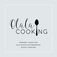Logo for the blog olalacooking.pl created by Anemon Studio. For more inspirations please visit anemonstudio.pl