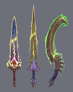 Fantasy Sword, 3d Fantasy, Fantasy Weapons, Sci Fi Weapons, Armor Concept, Weapon Concept Art, Game Character Design, Fantasy Character Design, Character Art