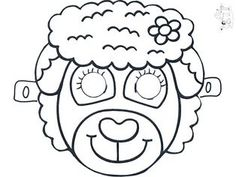 Animals mask template coloring pages Animal Activities, Animal Crafts, Animal Mask Templates, Sunday School Activities, Bible Lessons For Kids, Animal Masks, Kids Church, Sheep, Bricolage