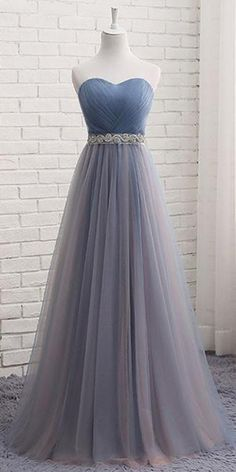 Buy Cute A Line Sweetheart Tulle Blue Strapless Beads Prom Dress, Bridesmaid Dresses uk in uk.Shop our beautiful collection of unique and convertible long Prom dresses from PromDress.uk,offers long bridesmaid dresses for women in the UK. Pretty Prom Dresses, A Line Prom Dresses, Wedding Party Dresses, Beautiful Dresses, Elegant Dresses, Maxi Dresses, Summer Dresses, Strapless Prom Dresses, Casual Dresses