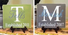 Custom Family Name Plaque-I need to make one of these!