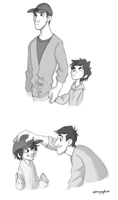 More Tadashi and Hiro sketches by uponagraydawn.