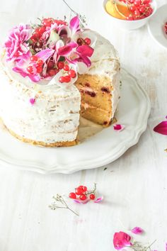 White Chocolate And Raspberry Cake With Orange Buttercream