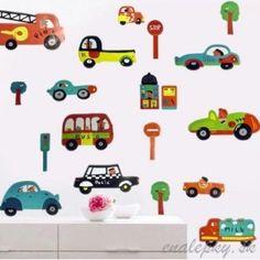 Nálepky na stenu - dopravné prostriedky