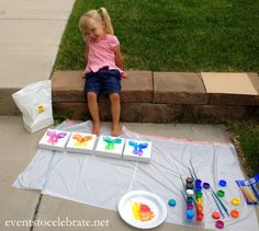 Butterfly Footprint Art Tutorial - makes a fun Summer activity or a perfect gift! Events To Celebrate