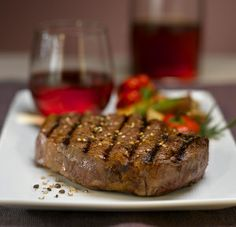 Ain't nothing better than a seasoned grilled ribeye steak with sauteed onions and mushrooms, complemented with a cold beer. Prime Steakhouse, My Favorite Food, Favorite Recipes, Best Steak, Soul Food, Wine Recipes, The Best, Food To Make, Dinner