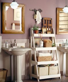 I have seen quite a few tiered bathroom shelf units on the Internet, but this design offers a bit more storage space and allows you to add b...
