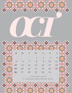 Our October 2014 calendar.