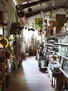 Heath's Old Wares - amazing vintage goodness in Bangalow.  Photo - Toby Scott.
