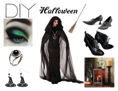 """""""DIY Halloween Costume: Witch"""" by aly777l ❤ liked on Polyvore featuring Pamela Love, Burberry, Lele Sadoughi, contest, contestentry and diyhalloweencostume"""