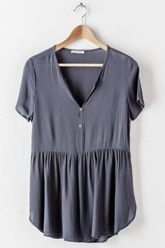 Babydoll Button Up Top