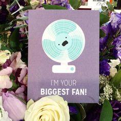Need a friend for the summer heat?  @craftedvan #vancouver #bc #britishcolumbia #local #buylocal #birdonwirecreations #cards #greetingcards #sunday #summertime #summer #sunshine #sunmerishere #fan #biggestfan #purple #flower #beattheheat #staycool