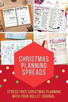 Christmas Bullet Journal Ideas and hacks - Christmas planning spreads to help you have a stress free Christmas Bullet Journal Quotes, Bullet Journal Tracker, Bullet Journal Printables, Bullet Journal Themes, Bullet Journal Layout, Bullet Journal Inspiration, Journal Ideas, Bullet Journals, Journal Prompts