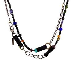 Beth Orduna | Gemstone and Leather Strap Necklace in Necklaces Beads at TWISTonline