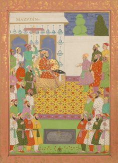 Sultan Muiz-ud-din, son of Shah Alam/Mughal Dehli style Mughal Miniature Paintings, Islamic Paintings, Mughal Empire, Indian Art, Emperor, Art History, Fairy Tales, Miniatures, 17th Century