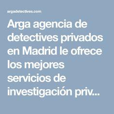 Arga agencia de detectives privados en Madrid le ofrece los mejores servicios de investigación privada sobre mistery shopping. Conózcalos. Mystery Shopper, Madrid