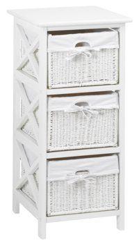 Komoda OURE 3 zásuvky biela | JYSK