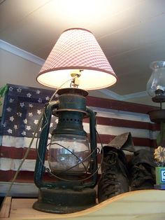 Make an old latern into a lamp!