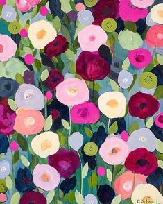 "all-things-bright-and-beyootiful: "" Night Garden ~ by Carrie Schmitt """