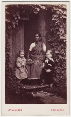 An Indian Ayah with Two Children - 1880's