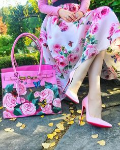 OMG all the floral details are fantastic!! Perfect for spring 🌸 -  - #Uncategorized Pink Fashion, Hijab Fashion, Fashion Outfits, Womens Fashion, Romper With Skirt, Gucci Handbags, Matches Fashion, Cheap Dresses, Classy Outfits
