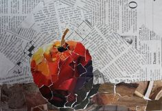 LOVE this woman's torn paper art