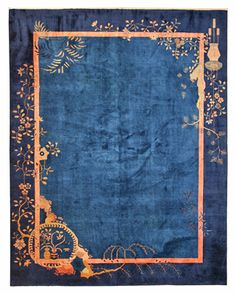 A beautiful chinese art deco rug - gorgeous design and such rich color!