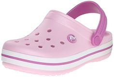 crocs Crocband Kids, Unisex - Kinder Clogs, Pink (Neon Magenta/Citrus), 32/33 EU