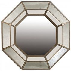 Leah Antique Mirrored Frame 102cm Octagon Wall Mirror