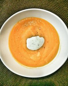 My mom's Carrot Soup Recipe!  Very easy to make!!  Tasty and Healthy!