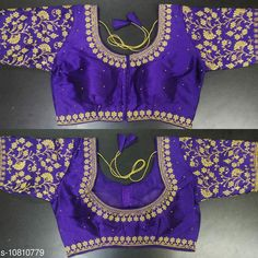 Checkout this latest Blouses Product Name: *Alisha Sensational Women Blouses* Fabric: Silk Sleeve Length: Short Sleeves Pattern: Embroidered Multipack: 1 Sizes: 38 (Bust Size: 38 in, Length Size: 15 in)  Free Size Easy Returns Available In Case Of Any Issue   Catalog Rating: ★4 (323)  Catalog Name: Alisha Petite Women Readymade Blouse CatalogID_1991752 C74-SC1007 Code: 364-10810779-7221