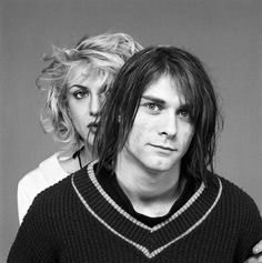 Kurt Cobain & Courtney Love. lindo registro <3