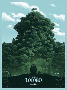 My Neighbor Totoro Poster - Studio Ghibli Anime Art - High Quality Prints - Studio Ghibli Films, Art Studio Ghibli, Studio Ghibli Poster, Hayao Miyazaki, Totoro Poster, Film Animation Japonais, Personajes Studio Ghibli, Film D'animation, Art Anime