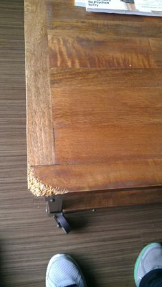 Woodworkers Suggest Various Post Canine Repair Strategies For A Table Top.