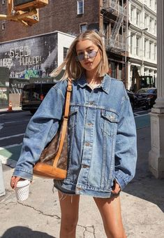 3316e16b227d Deborah Praha. Denim Jacket Outfit SummerDenim Jacket And DressDenim ...