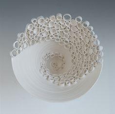 Ceramic Fine Art and Design Katherine Dube - RingsCollective-swirl (detail image)