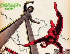 Daredevil (created by Stan Lee and Bill Everett, debuted 1964 in his own comic book series from Marvel Comics)
