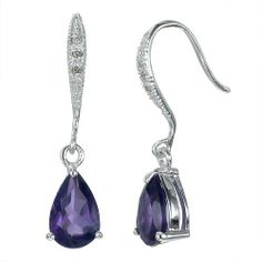 2.5 CT Amethyst and Diamond Earrings In Sterling Silver FineDiamonds9. Save 66 Off!. $39.99. Nickel Free 925 Sterling Silver with Rhodium Plating. Jewelry Gift Box Included