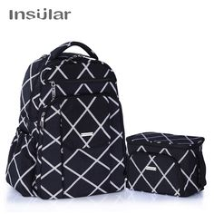18e820d1ae25 Insular Brand Mother Bag Baby Nappy Bag Large Capacity Maternity Mummy  Diaper Backpack with Thermal Insulation