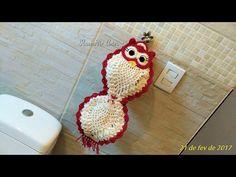 Jogo de Banheiro Coruja com Barbante nº 8, cabeça da coruja - YouTube