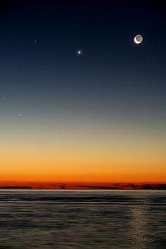 Moon-Venus-Mercury    Ultima congiunzione del 2012 tra pianeti e luna al mattino, non resta che aspettare marzo ed aspettare la cometa Panstarss che dovrebbe essere visibile ad occhio nudo con Mag:-1 circa  Speriamo bene!
