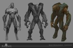 """Concept Art I made for the PC title """"Savage Resurrection"""", by Alien Concept, Concept Art, Aliens, Monster Design, Creature Concept, Creature Design, Dungeons And Dragons, Savage, Sci Fi"""