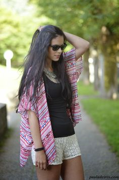 PAULA DEIROS SECRETS: Kimono & Crochet #kissmylook